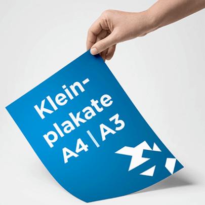 Kleinplakate A4 und A3