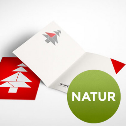 Weihnachtskarte gefaltet natur