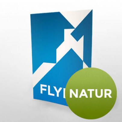 Flyer natur - Auf Recycling- oder naturweissem Papier