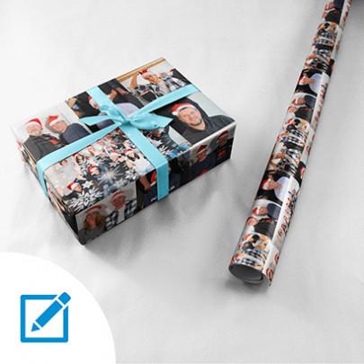 Geschenkpapier Fotocollage