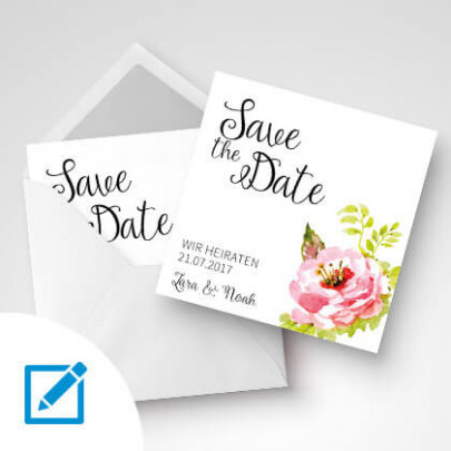 Save the Date Karte 15x15 cm
