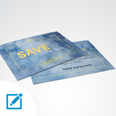 Save the date A6 Aquarell