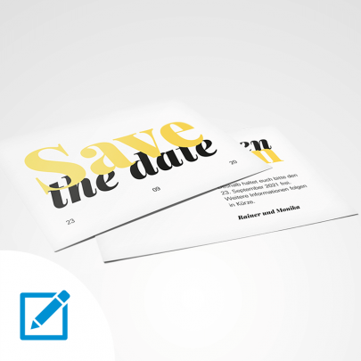 Save the date A6 quer Typo
