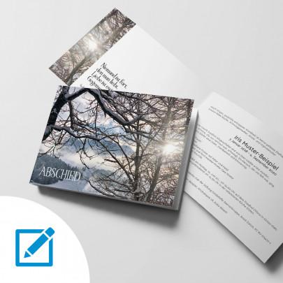 Trauerkarte A5 quer Abschied Motiv Winter