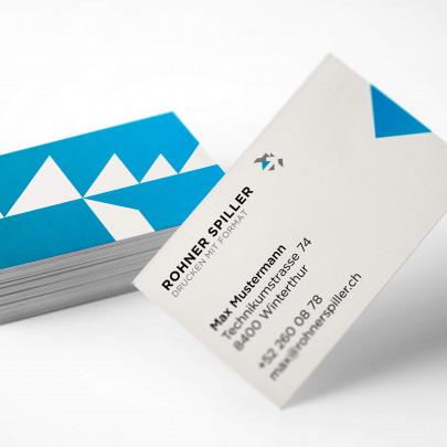 Visitenkarten online drucken bei Rohner Spiller AG