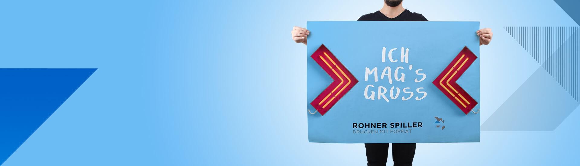 Plakate und Beschriftungen drucken bei Rohner Spiller AG