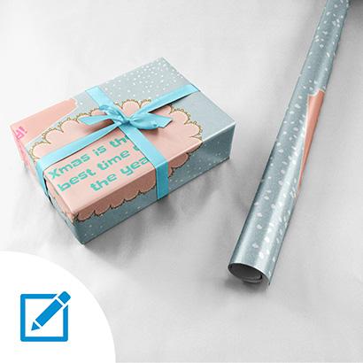 Geschenkpapier mit Online-Editor erstellen