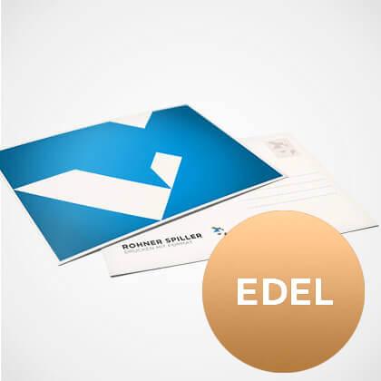 Postkarte auf edlen Papieren gedruckt